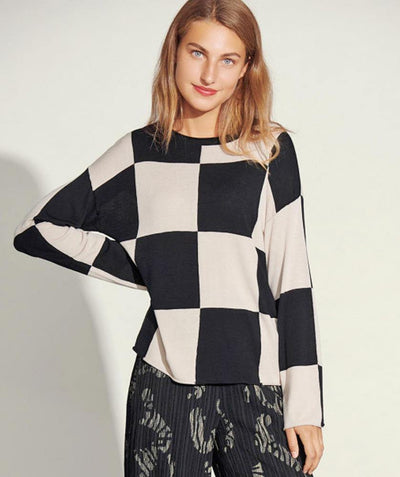 Checkerboard Pullover - Mary Walter