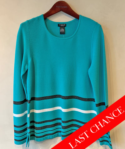 Fitted knit tunic tee Aqua size S