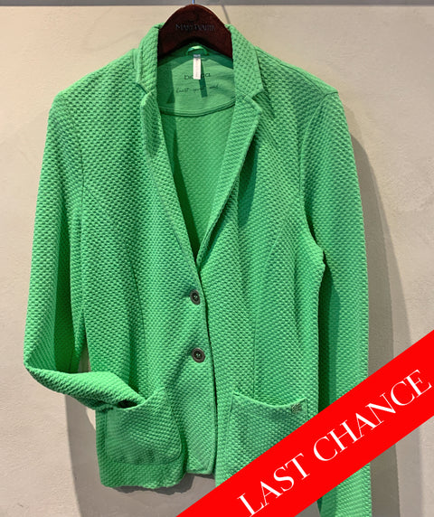 Knit pique 2 button blazer green size 6