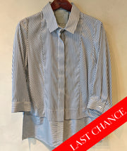 Silk stripe blouse size 10