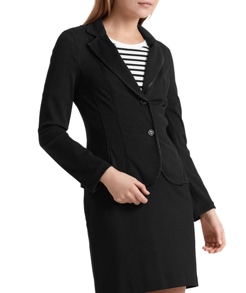 Essential mesh blazer Black