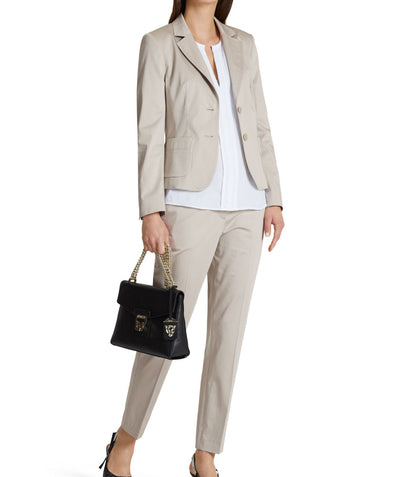 Essential polished cotton blazer Sand