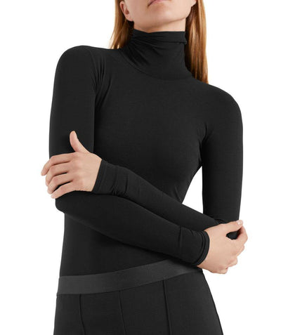 Babyskin Turtleneck Black - Mary Walter