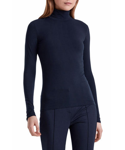 Babyskin Turtleneck Navy - Mary Walter