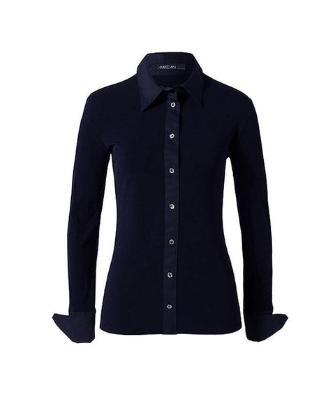 Babyskin blouse Navy - Mary Walter