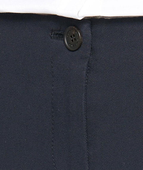 1 button cotton twill ankle pant Navy