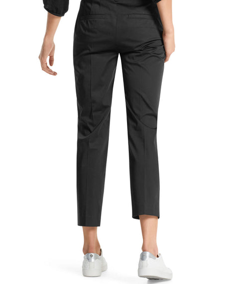 Essential polished cotton pant Black