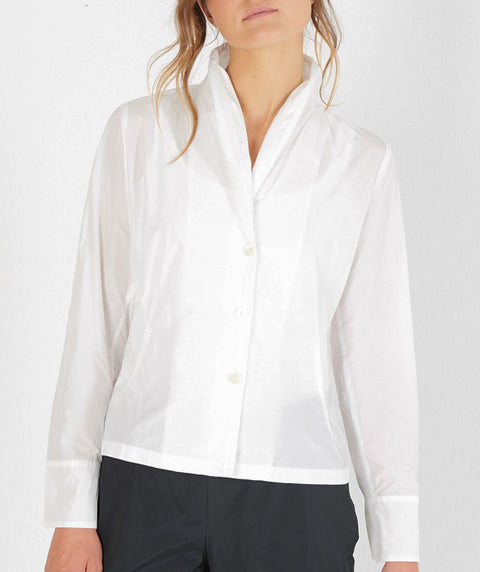 Shawl Collar Shirt White