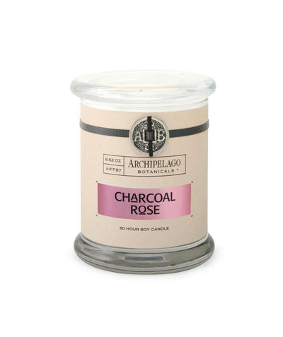 Charcoal Rose jar candle