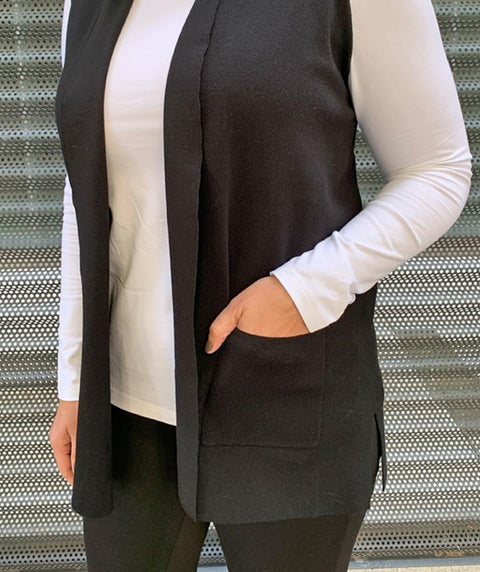 Long Knit Vest - Mary Walter