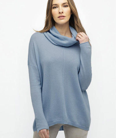 Cowl Cashmere Pullover - Mary Walter