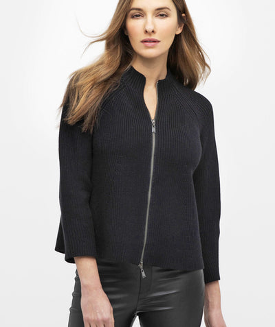Zip Mock Cardigan