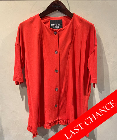 Jersey 4 button cardigan flame size XS