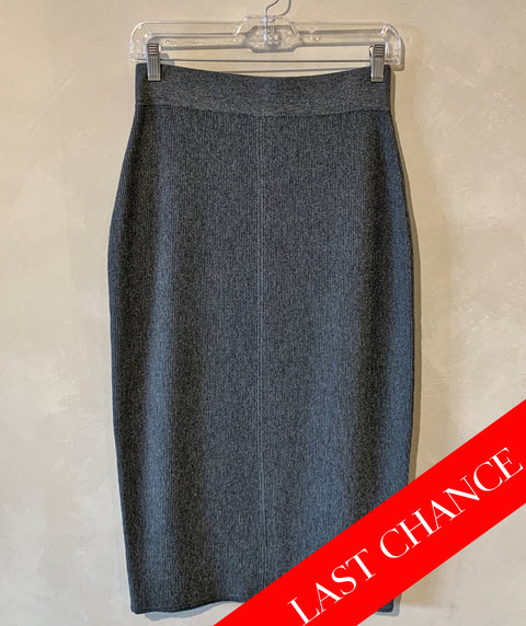 Long knit skirt charcoal grey size XS