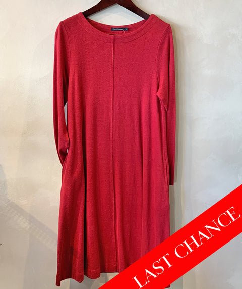 Easy knit dress red size XS