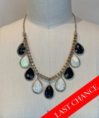 Chunky Gem Bib Necklace