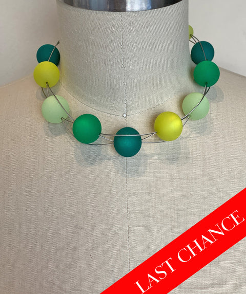 Chunky Green Baubles Collar