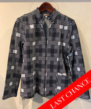 Black and Grey Checkered Jacket Size M