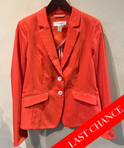 ORANGE STRETCH POPLIN BLAZER SIZE 8