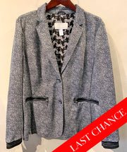 Soft Tweed Print Blazer Size 14