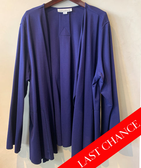INK BLUE OPEN CARDI AND TANK SET SIZE L