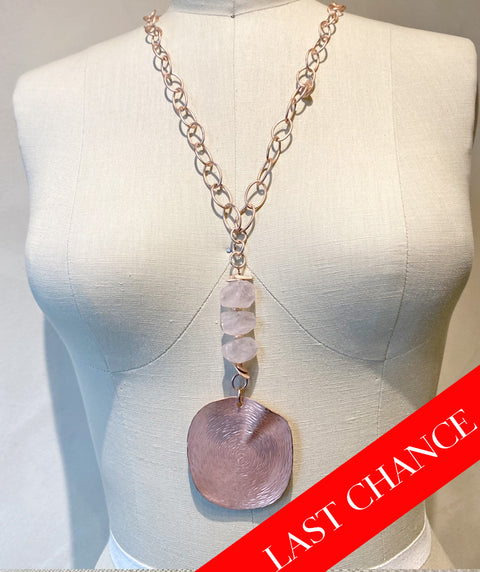 Rose Quartz/Rose Gold Necklace