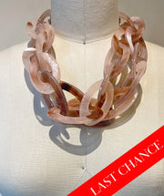 Chunky Taupe Resin Collar Necklace