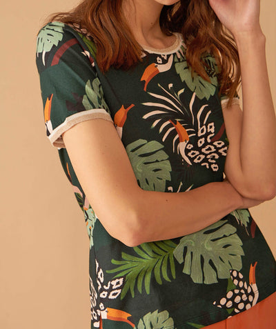 Palm and Toucan Tee
