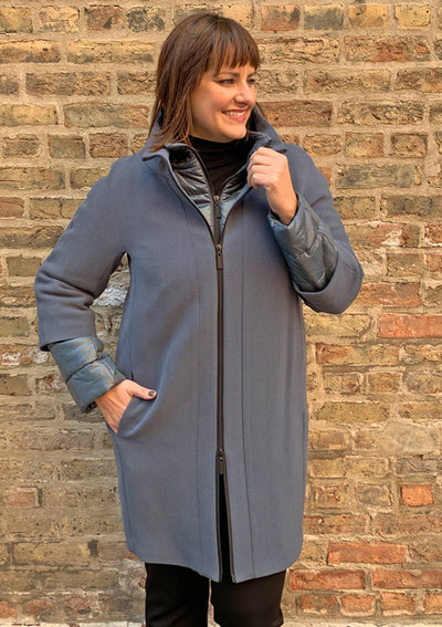 3-in-1 Coat Slate Blue - Mary Walter