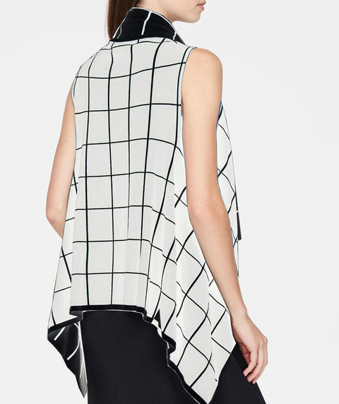 REVERSIBLE WINDOWPANE VEST