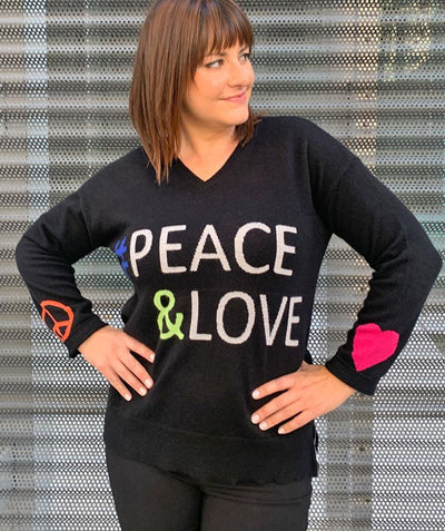 Peace & Love Sweater - Mary Walter