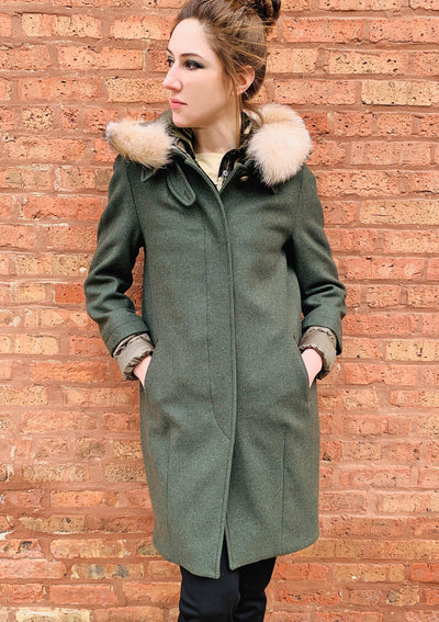 MODULAR WOOL COAT - Mary Walter