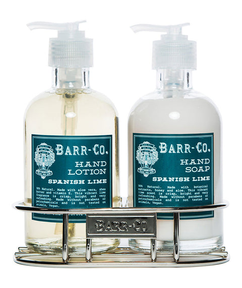 Spanish Lime soap & lotion caddy set
