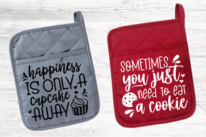 Baking Quotes Svg Bundle, Pot Holder Svg Bundle