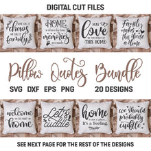 Load image into Gallery viewer, Pillow Quotes Svg Bundle
