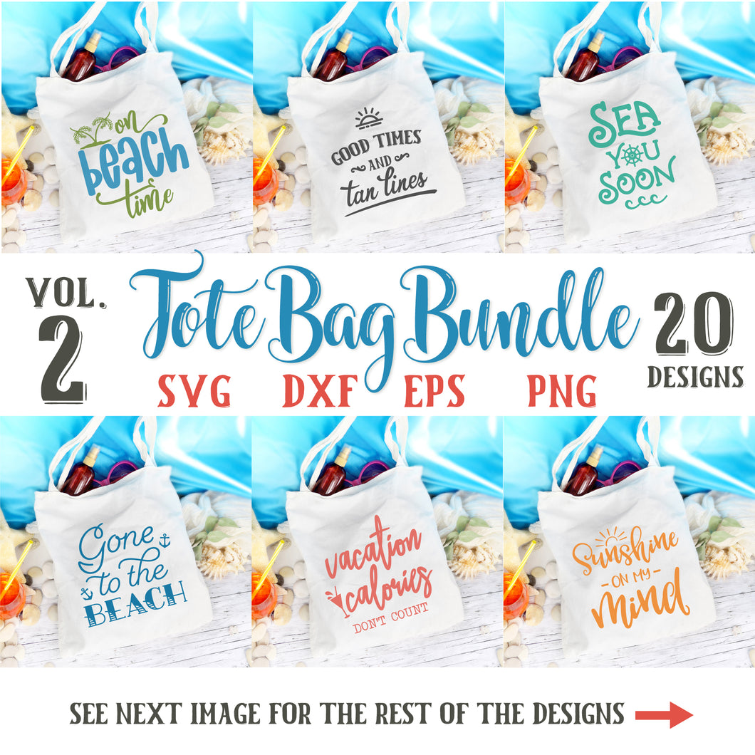 Summer Tote Bag Quotes Svg Bundle