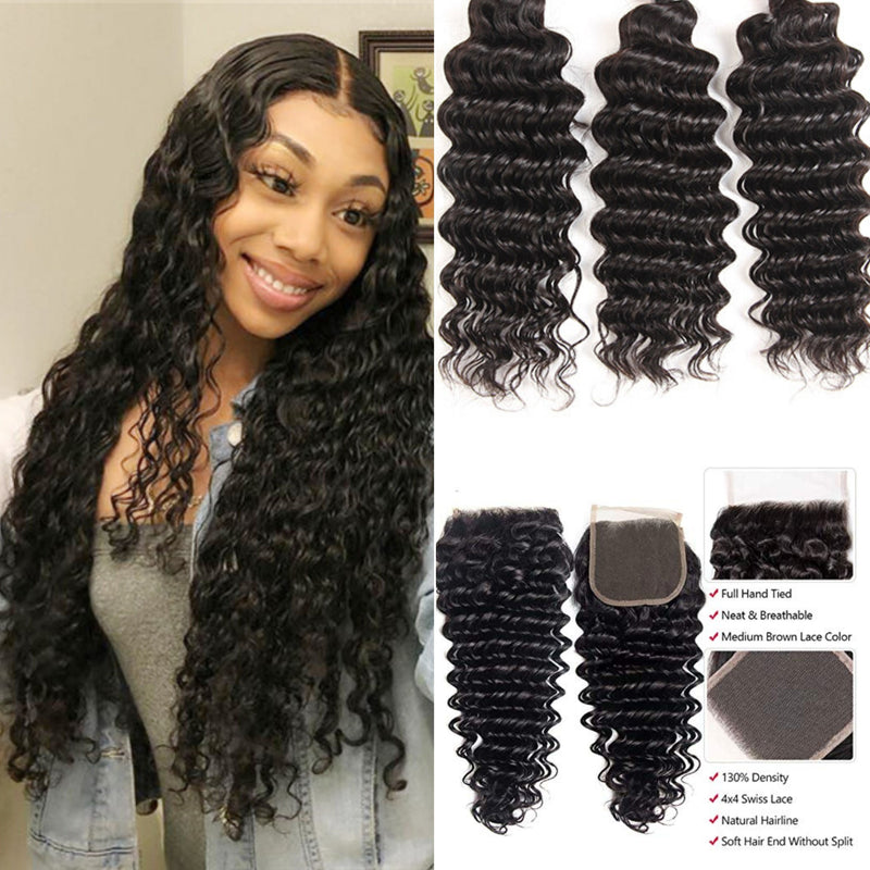 TRIO TISSAGE & CLOSURE DEEP WAVE