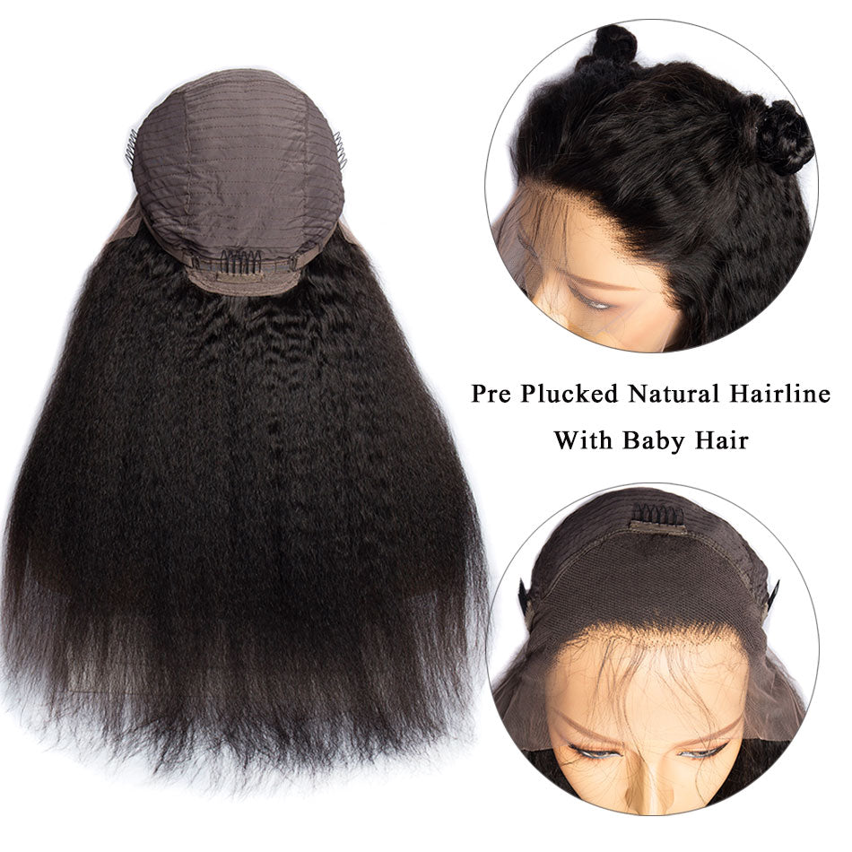 PERRUQUE KINKY STRAIGHT - Frontal lace