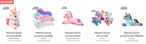 Collection Peluches Licornes