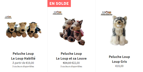 Collection Peluche Loup