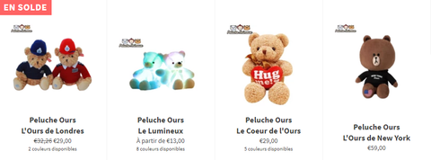 Collection Peluche Ours