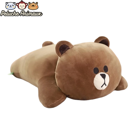 Peluche Ours<br/> L'Ours Brun Coussin - Peluche-Animaux