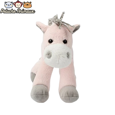 Peluche Cheval<br/> Le Cheval Rose - Peluche-Animaux