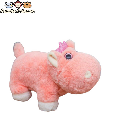 Peluche Hippopotame Fille Rose