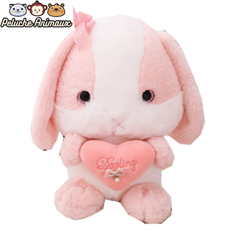 Peluche Lapin Fille Rose