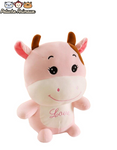 Peluche Vache Yeux Brillants Rose