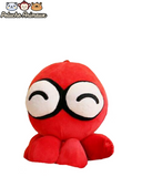 Peluche Poulpe Rouge Content