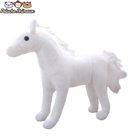 Peluche Cheval<br/> Le Cheval Blanc - Peluche-Animaux