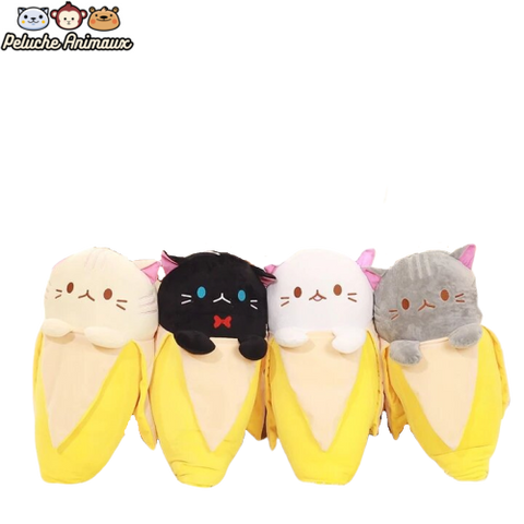 Peluche Chat<br/> Le Chat Banane - Peluche-Animaux