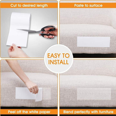 MiracleSofa Universal Sticky Scratch Protector Pads - Protect your Sofa, Chairs & Other Furniture